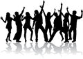 Dancing silhouettes Royalty Free Stock Image