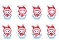 Dancing snowman animation sprite in Pixel-Art style