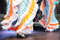 Dancing in traditional costumes Royalty Free Stock Photos