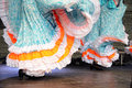 Dancing in traditional costumes Stock Photos