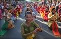 Dancing traditional dances