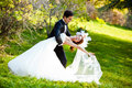 Dancing wedding couple Stock Photo