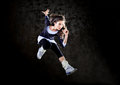 Dancing woman jumping up. Royalty Free Stock Photography
