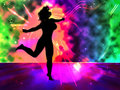 Dancing woman pop illustration Stock Photos