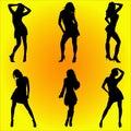 Dancing women #1 Royalty Free Stock Photo