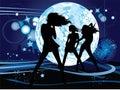 Dancing young women