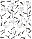 Dandelion seamless  pattern Stock Photo