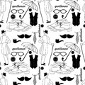 Dandy style vintage seamless pattern beautiful Stock Images