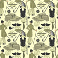 Dandy vintage seamless pattern style beautiful Royalty Free Stock Images