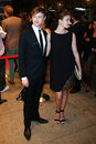 Dane dehaan anna wood new york sep actor l and wife attend a screening of kill your darlings at the paris theatre on september in Royalty Free Stock Image