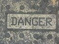 Yaletown loft art- Danger art sign Royalty Free Stock Photo