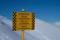 Danger of avalanches sign warning Royalty Free Stock Photo
