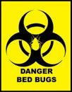 Danger BedBugs Hazard Royalty Free Stock Photo