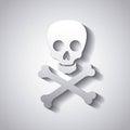 Danger caution skull