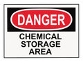 Danger Chemical Storage Area Royalty Free Stock Photo