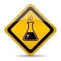 Danger chemicals vector warning sign Stock Images