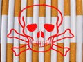 Danger cigarettes Royalty Free Stock Photography