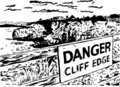 Danger cliff edge Stock Images
