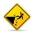 Danger cliff vector sign Royalty Free Stock Photo