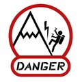 Danger climbing creative design of Stock Image