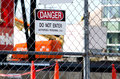 Danger: construction site Stock Images