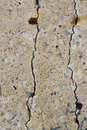 Danger crack cement wall Royalty Free Stock Photo