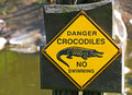 Danger crocodiles no swimming