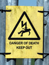 Danger of Death Sign Royalty Free Stock Photo