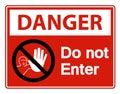 Danger Do Not Enter Symbol Sign Isolate On White Background,Vector Illustration Royalty Free Stock Photo