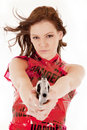 Danger dress gun serious Stock Photos