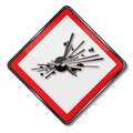 Danger of explosion and explosive substances save logistics Royalty Free Stock Image