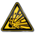 Danger explosion Royalty Free Stock Photo