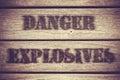 Danger Explosives Royalty Free Stock Photo