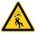 Title: Danger Falling Objects Warning Sign Isolated Macro