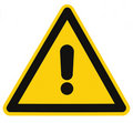 Danger Hazard Triangle Warning Sign Isolated Macro Royalty Free Stock Photo