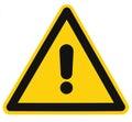 Danger Hazard Triangle Warning Sign Isolated Macro