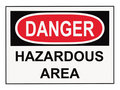 Danger Hazardous Area Sign Royalty Free Stock Images