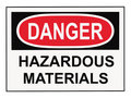 Danger Hazardous Materials Sign Royalty Free Stock Photo