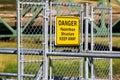 A Danger Hazardous Structure Keep Away sign Royalty Free Stock Photo
