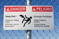 Danger Hazardous Voltage Sign Stock Photo