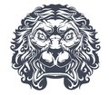 Danger heraldic lion for tattoo or mascot design Royalty Free Stock Photos