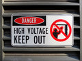 Danger High Voltage Royalty Free Stock Photo