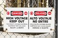 Danger High Voltage Sign Royalty Free Stock Photo