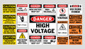 Danger High Voltage signs Royalty Free Stock Photo