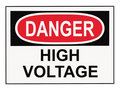 Danger High Voltage Warning Sign Royalty Free Stock Photo