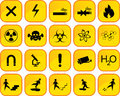 Danger icons twenty in one file Royalty Free Stock Photography