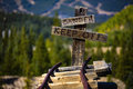 Danger keep off sign at the end of mining railway Stock Image