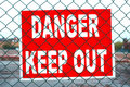 Danger Keep Out Stock Images