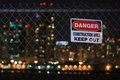 Danger Keep Out Fence Royalty Free Stock Photo