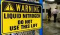 Danger - Liquid nitrogen warning sign Royalty Free Stock Photo